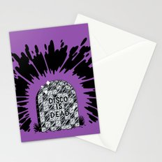 Disco is Dead Stationery Cards