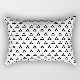 Triforce (Black on White) Rectangular Pillow