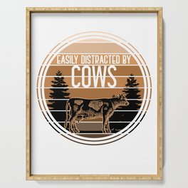 Easily Distracted By Cows Serving Tray