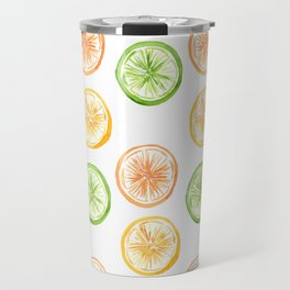Citrus Trio: Lemon, Lime, and Orange Travel Mug