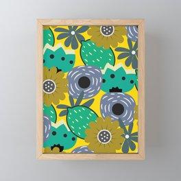 Fresh lemons and flowers Framed Mini Art Print
