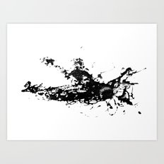 Kayaker in the Fog Art Print
