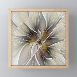 Floral Abstract, Fractal Art Framed Mini Art Print