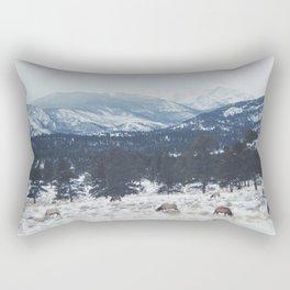 Elk herd in the Rockies Rectangular Pillow
