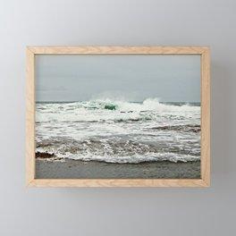 Sea Breaks on the Tidal Shelf Framed Mini Art Print