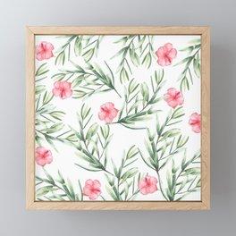 Delicate Hibiscus Framed Mini Art Print
