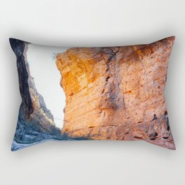 Sunset Reflecting on the Canyon Wall, Big Bend Ranch State Park Rectangular Pillow