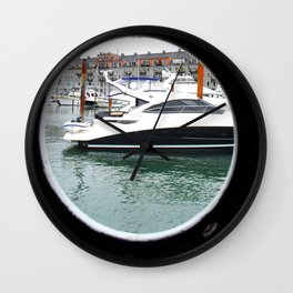 Port Hole View of Boston Wall Clock