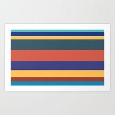 Color Band 70's - B - Stripe Art Print