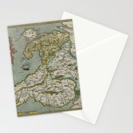 Vintage Map - Ortelius: Theatrum Orbis Terrarum (1606) - Wales Stationery Cards
