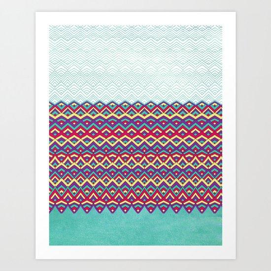 Horizons I Chevron Series Art Print