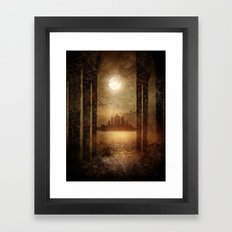 The moon is singing Framed Art Print
