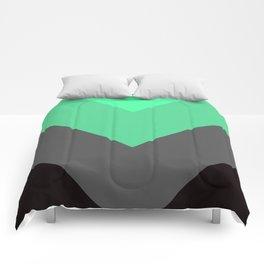 Mint Green Gray Chevron Stripes Comforters