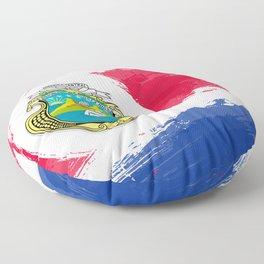 Costa Rica's Flag Design Floor Pillow