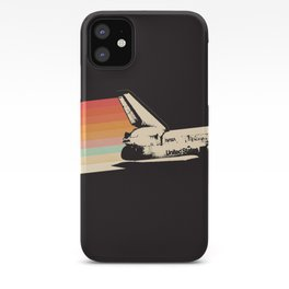 Spaceship - Rainbow iPhone Case