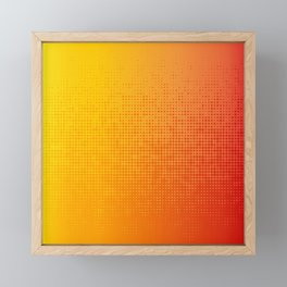 Yellorange Dots Framed Mini Art Print