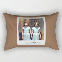 The greedy twins! Rectangular Pillow