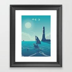 Zelda Wind Waker Framed Art Print