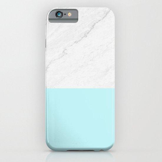 Marble And Aqua Blue iPhone & iPod Case