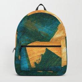 teal + mustard #104 Backpack