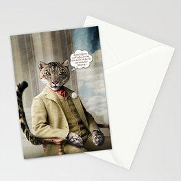 Sir Sebastian Snow Leopard Stationery Cards