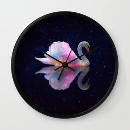Swan Lake Galaxy Wall Clock