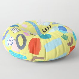 """""""Save The Earth"""" Series Modern Contemporary Art Floor Pillow"""