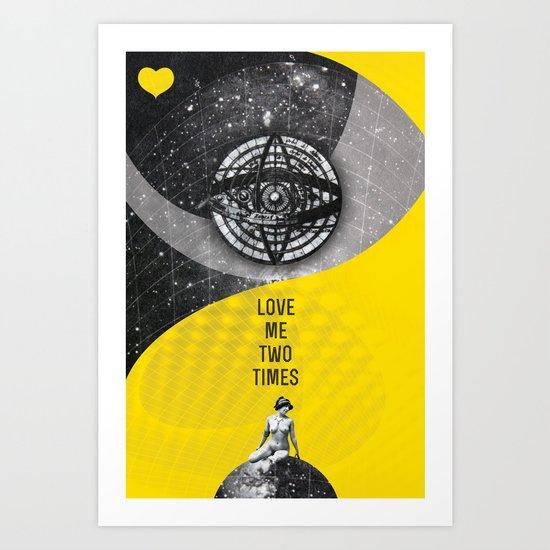 Love me two times (Rocking Love series) Art Print