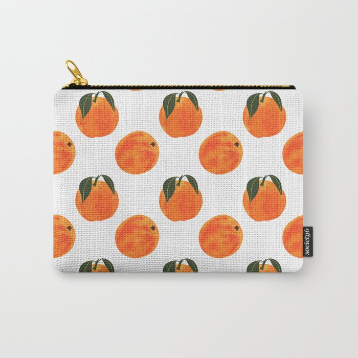 Peach Harvest Carry-All Pouch