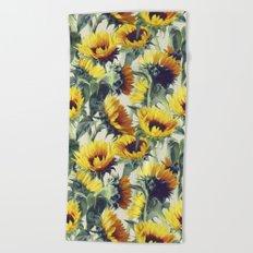 Sunflowers Forever Beach Towel