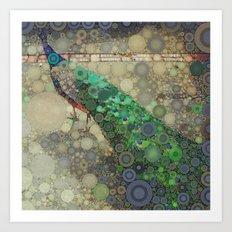 The Fancy Peacock! Art Print