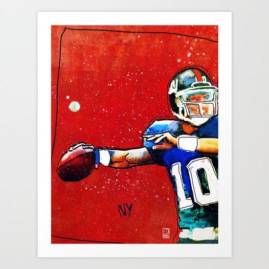 NY Giants' Eli Manning Art Print