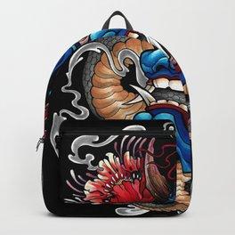Hannya japanese tattoo art Backpack
