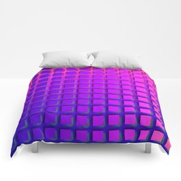 Pink and Purple Funky Squares Pattern Comforters