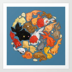 For The Love Of Goldfish Art Print
