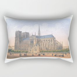 Paris Wall Art french antique Paris Bedroom Decor Paris art print Paris Decor office decoration vint Rectangular Pillow