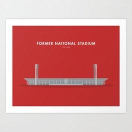 Former National Stadium, Singapore [Building Singapore] Art Print