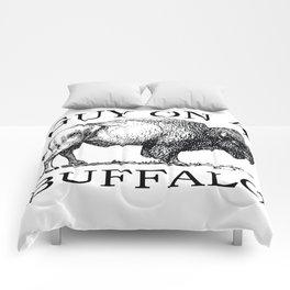 Guy on a Buffalo Comforters