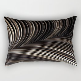 SERIAL earthen shades of beige brown black in rows Rectangular Pillow