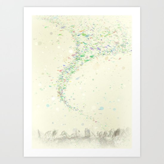 Confetti in the wind Art Print