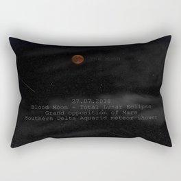 Blood Moon - Total Lunar Eclipse, Grand opposition of Mars, Southern Delta Aquarid meteor shower Rectangular Pillow