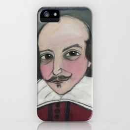 Much Ado About Shakespeare, Illustrated Writers Portrait iPhone Case