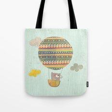 Bear in the air Tote Bag