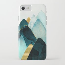 Gold and Blue Hills iPhone Case