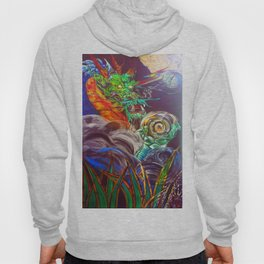 """The Aged and Wise Old Dragon Conquers some Orbs."" Hoody"