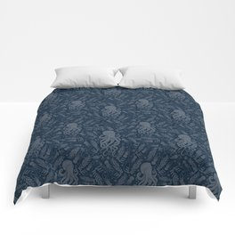 Octopus Squiggly King Of The Sea Pattern Comforters