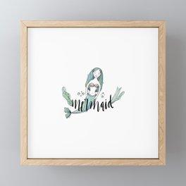 Art sleeping mermaid Framed Mini Art Print