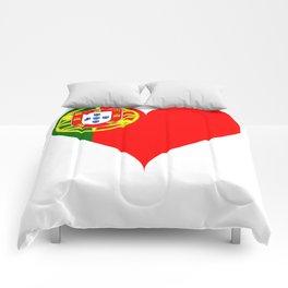 Portugal Heart Flag Comforters