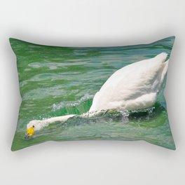 Swan Dive Rectangular Pillow