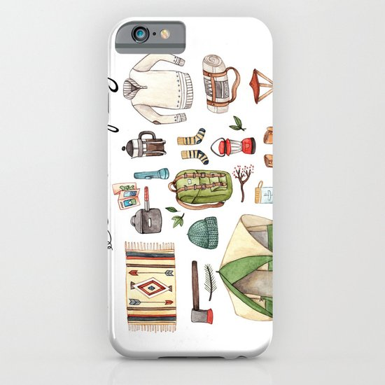 Let's Go Camping iPhone & iPod Case